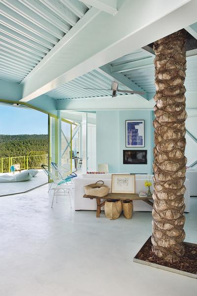 En el caso de integrar una palmera ¿cómo hacen para que no ingrese agua por el tejado?