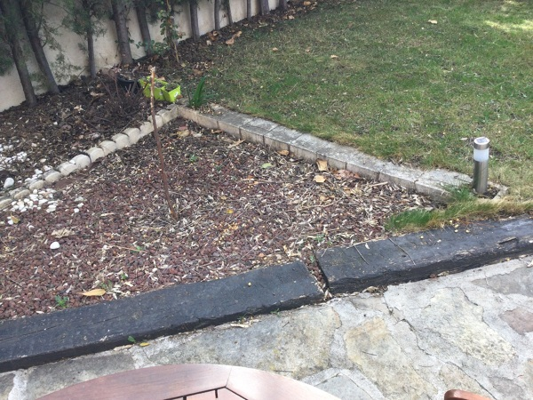 ¿Podría levantar una viga del jardín y colocarla en otro sitio?