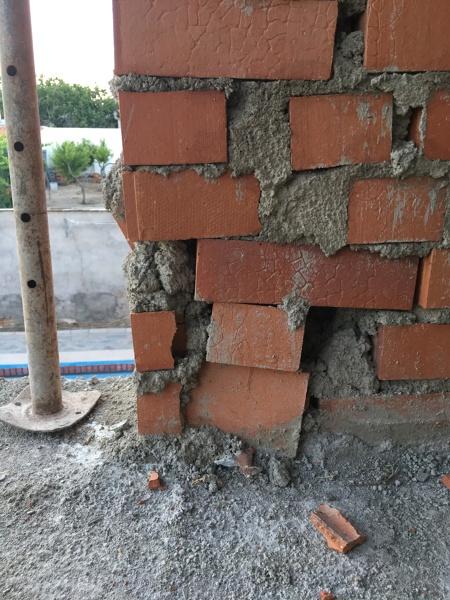 ¿Qué opinión tenéis sobre sobre la ejecución de estos muros de carga?