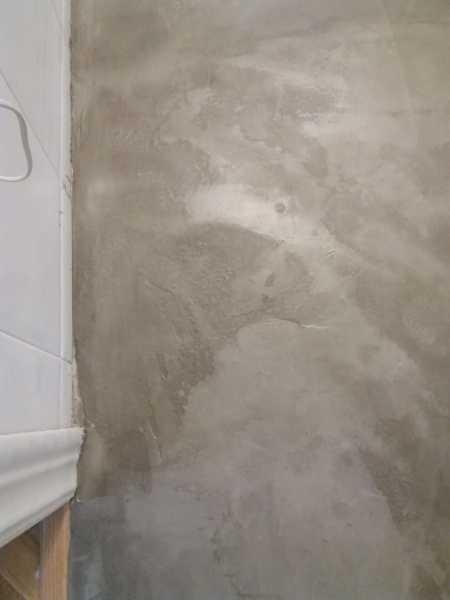 ¿Es correcta esta terminación de cemento pulido?