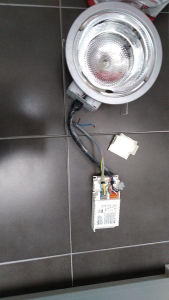 Duda con el cambio de downlight a led quitando transformador