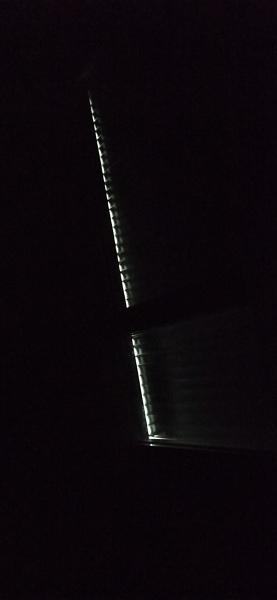 Luz en laterales persiana
