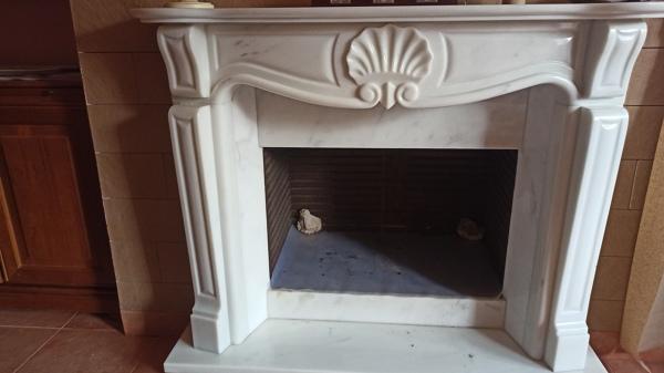 ¿Cuál es el valor y calidad de esta chimenea de marmol?