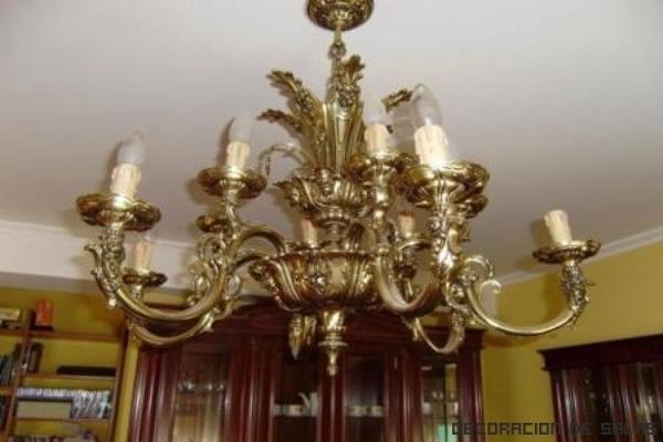 Necesito combinar dos lamparas de techo en el salon - Pintar lamparas de techo ...