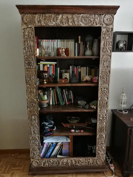 ¿Cuánto costaría poner puertas y pintar una librería colonial?