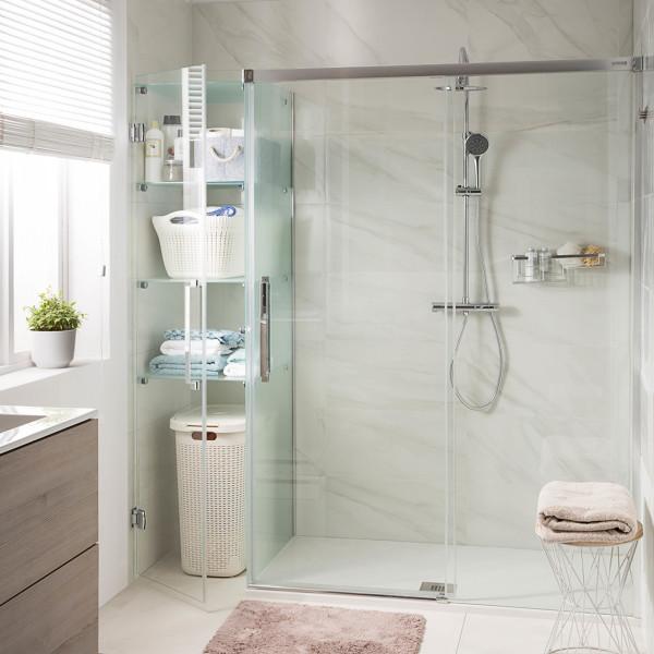 ¿Cuánto mide la ducha?