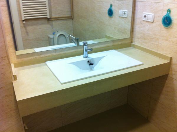 microcemento sobre encimera de lavabo_620567