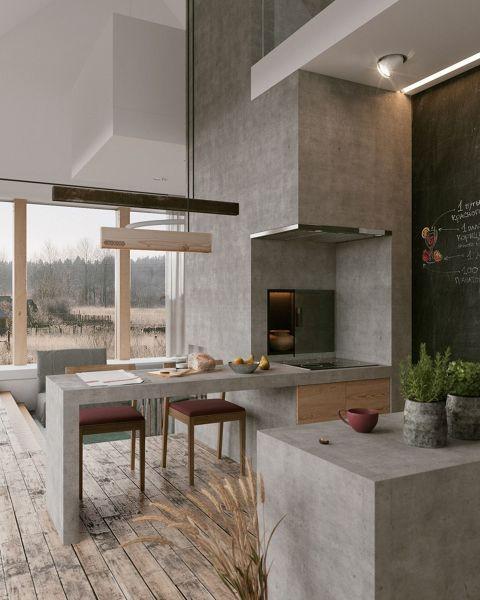 Puedo aplicar microcimento en el par metro vertical - Placa de cocina ...