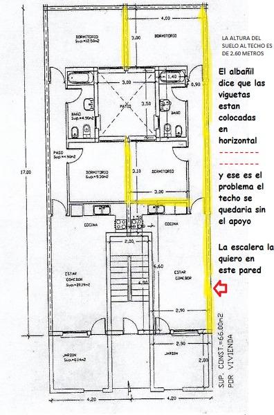 ¿Es posible poner una escalera dentro de mi casa para poder acceder a la azotea?
