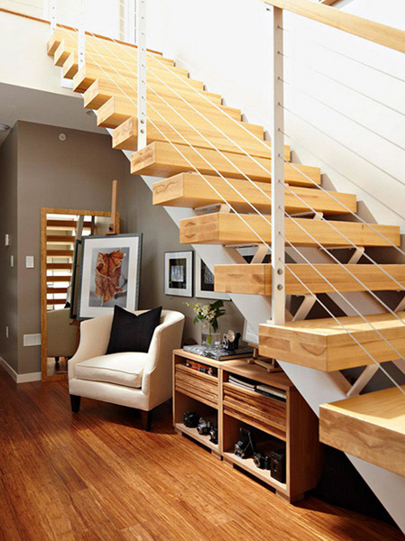 qu puede costar una escalera de madera con vigas de hierro