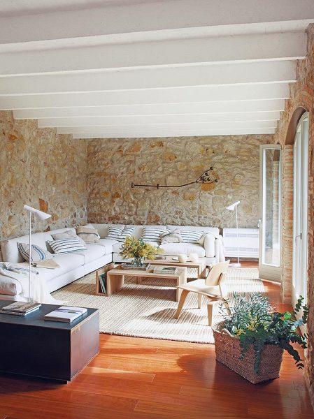la pared es de piedra