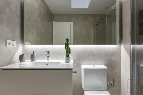 ¿El revestimiento de las paredes es microcemento?