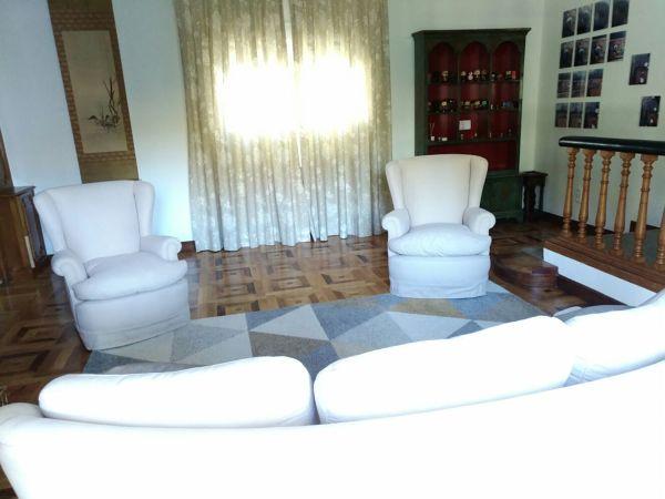 ¿Cuál sería el presupuesto para tapizar dos sillones como estos?
