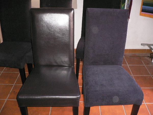Cu nto cuestan estas fundas para las sillas habitissimo - Tapizar sofa de piel ...
