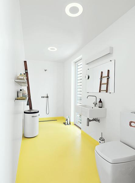 ¿Qué tipo de suelo tiene este baño?