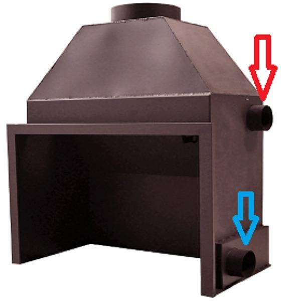 ¿Porque no sale aire caliente de la chimenea?