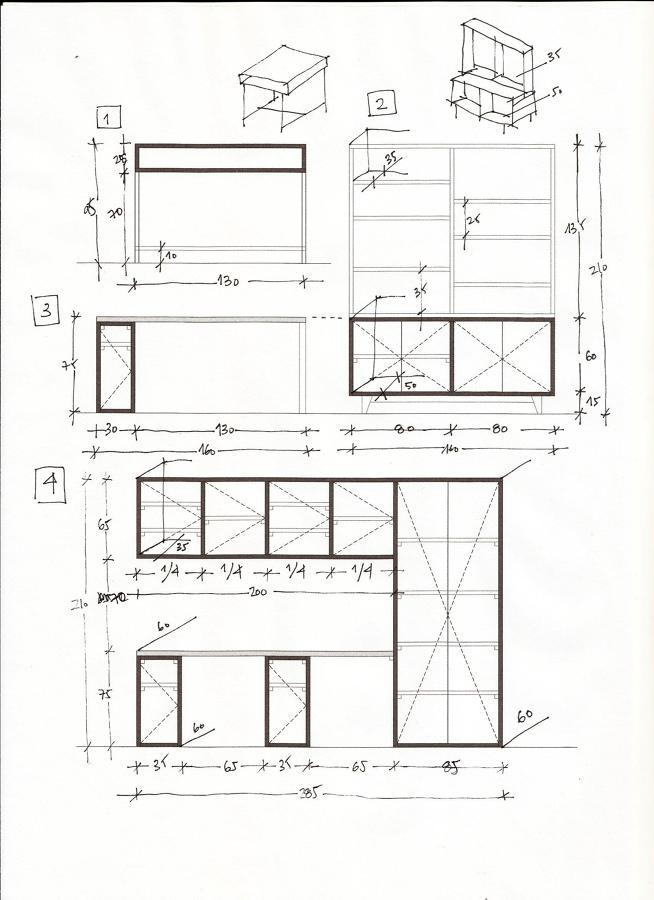 Muebles de escritorio para casa estantera de saln comedor for Mobiliario para planos