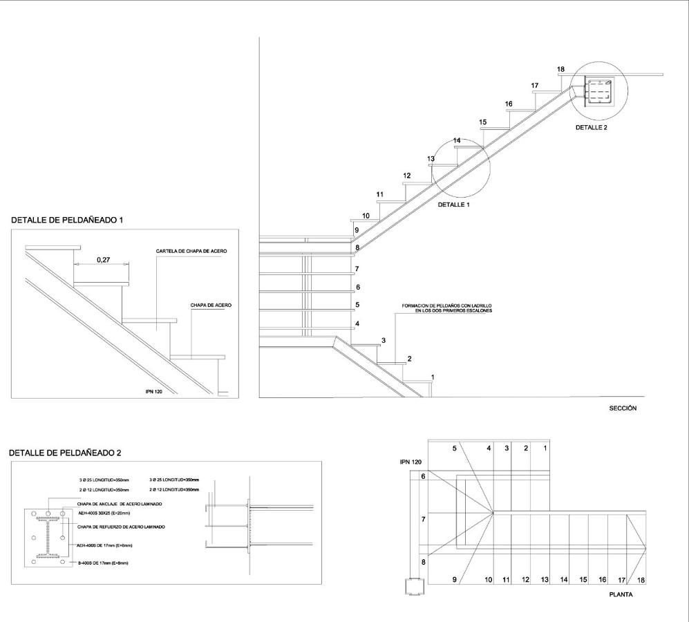 Presupuesto escalera de hierro ecija sevilla habitissimo for Escaleras tres tramos