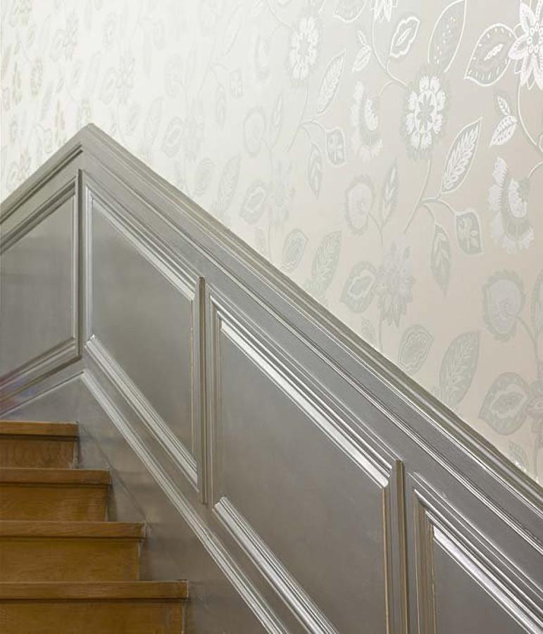 Decoraci n de pared de pasillo a dos alturas z calo - Papel pintado pasillo ...