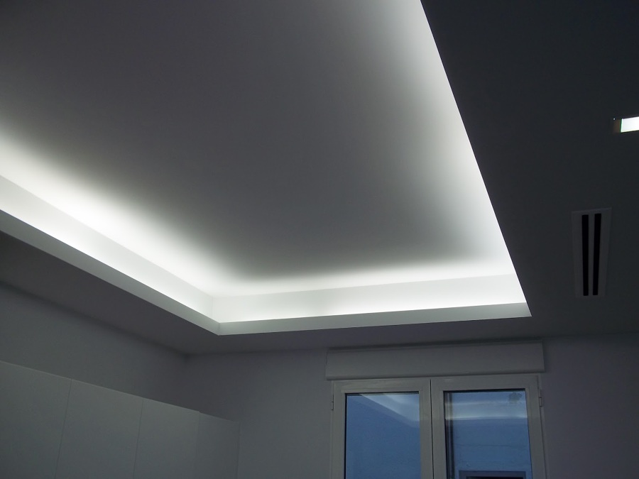 Poner falso techo de pladur para iluminaci n indirecta - Falsos techos de pladur ...