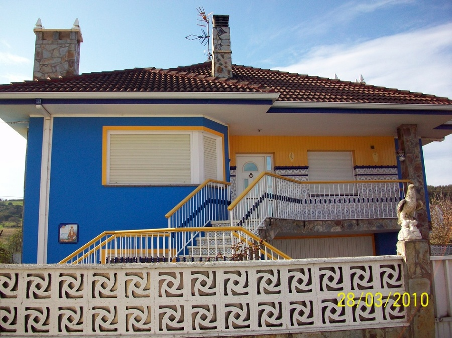 Pintar fachada casa piedras blancas asturias habitissimo - Quiero pintar mi casa ...