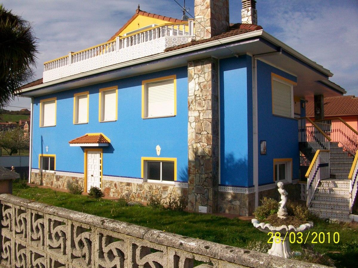 Pintar fachada casa piedras blancas asturias habitissimo - Pintar fachada casa ...