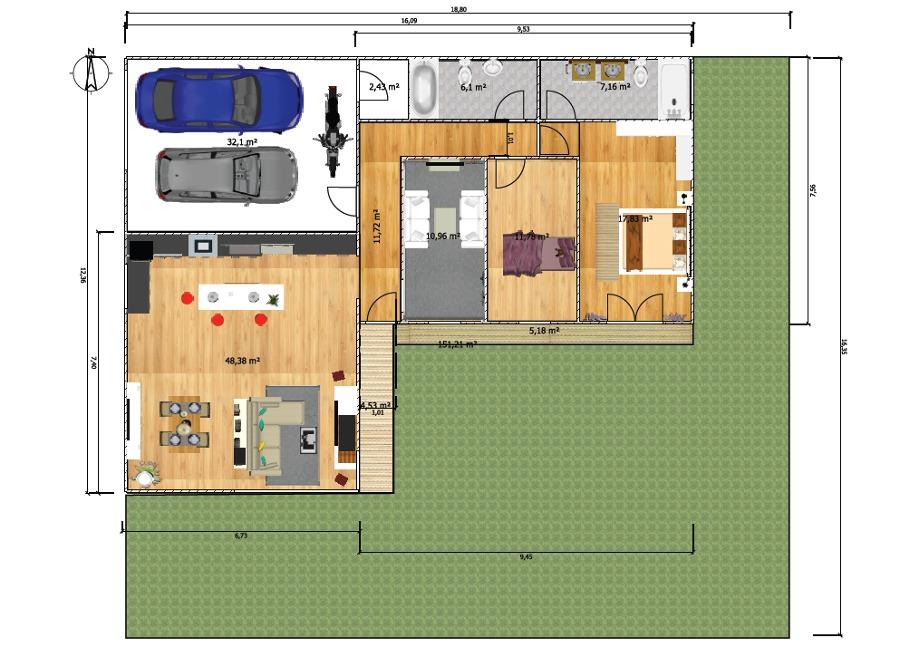 Construir casa obra modular de 120 metros cuadrados for Precio construir casa 120 metros