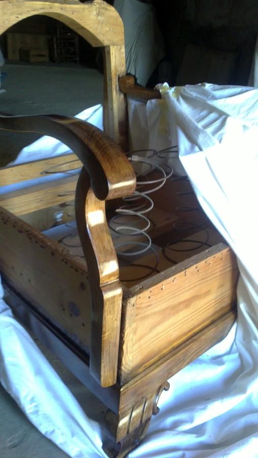 Tapizar 2 sillones restaurados cartuja baja zaragoza - Sillones antiguos restaurados ...