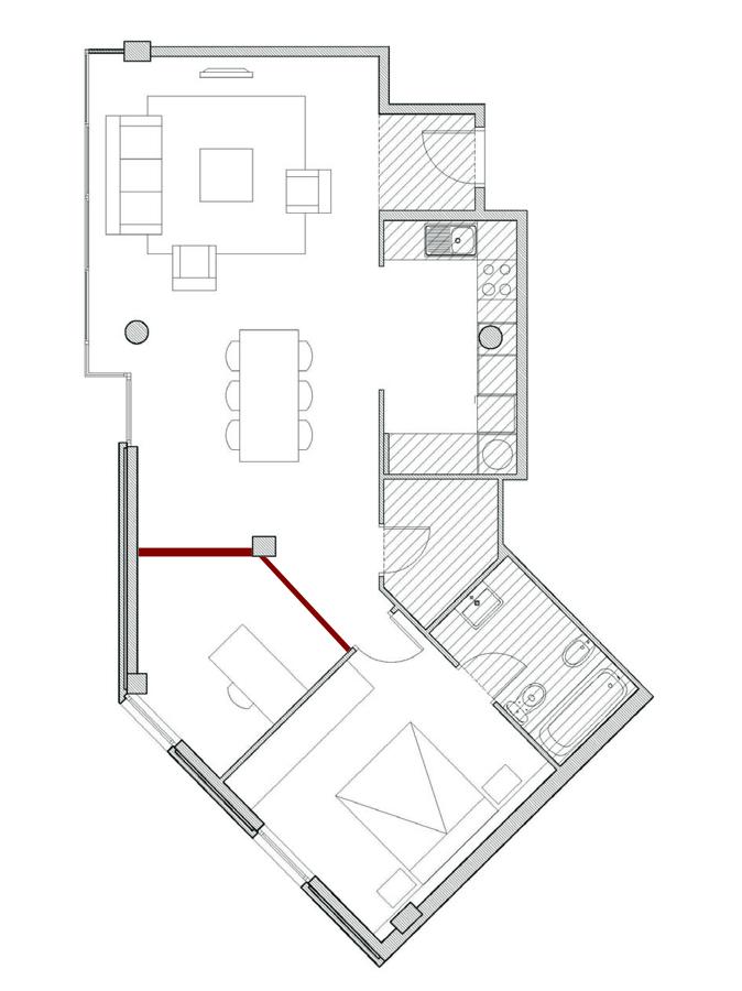 Hacer una habitaci n en un comedor barcelona barcelona for Crear habitacion online
