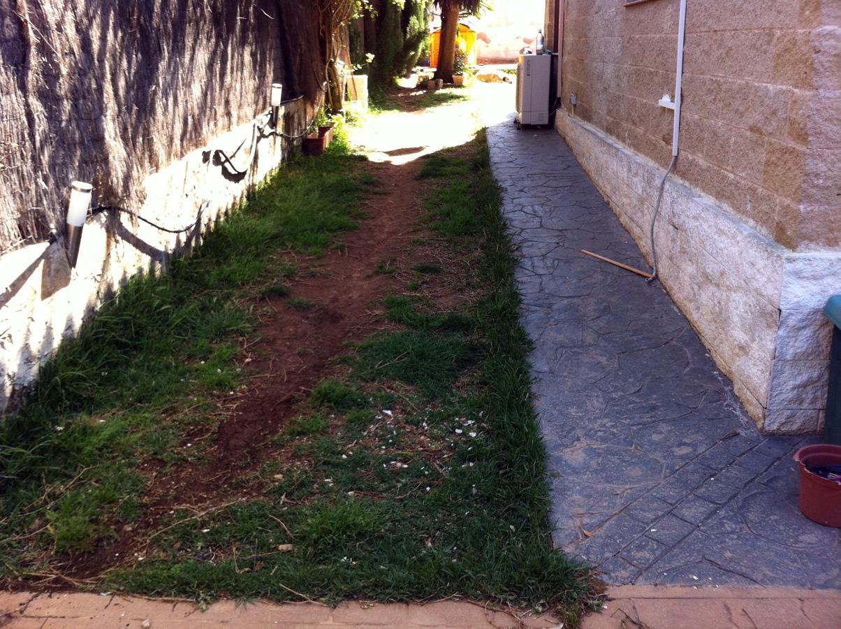 Cubrir jard n de 100 m2 con hormig n estampado badia for Decoration jardin 100 m2