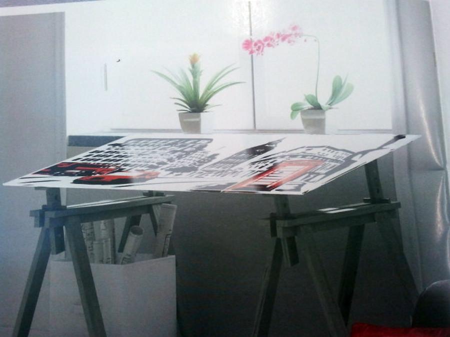 Tablero vidrio templado para escritorio valencia for Tableros para escritorios