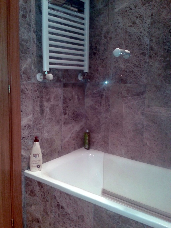 Reformas Baños Alcala De Henares:Cambio de bañera por ducha de cemento pulido – Alcalá de Henares