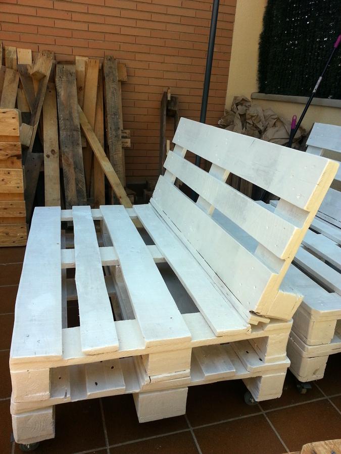 Cojines para muebles exterior de palet roquetas de mar - Hacer sofas con palets ...