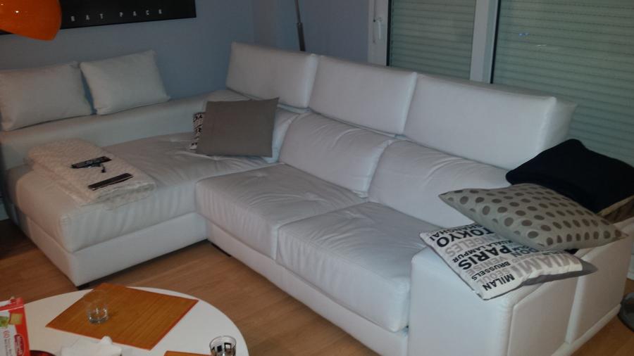 Tapizar sof de polipiel blanca parcialmente la estacion - Precio tapizar sofa ...
