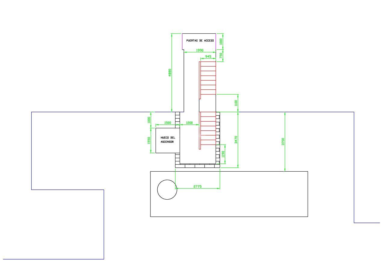Instalar ascensor y escalera exterior edificio 4 plantas - Precio instalacion ascensor ...
