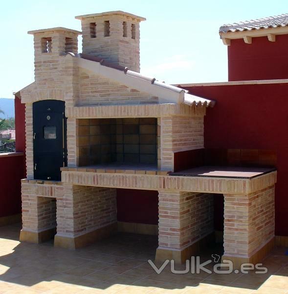 Construir barbacoa de obra valencia valencia habitissimo - Medidas barbacoa de obra ...