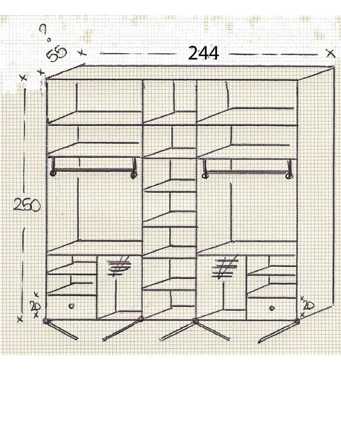 Casa en constructor armario empotrado medidas - Como distribuir armario empotrado ...