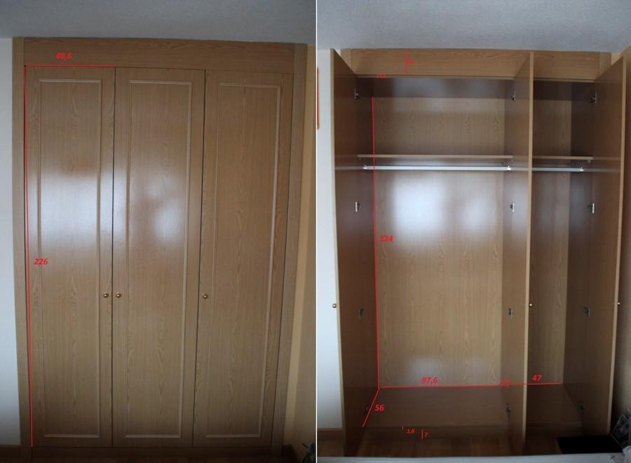 Vestir interior armario empotrado ya forrado - Como vestir un armario ...