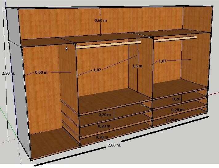 2 armarios empotrados a medida completos forro y puertas - Armarios empotrados a medida precios ...