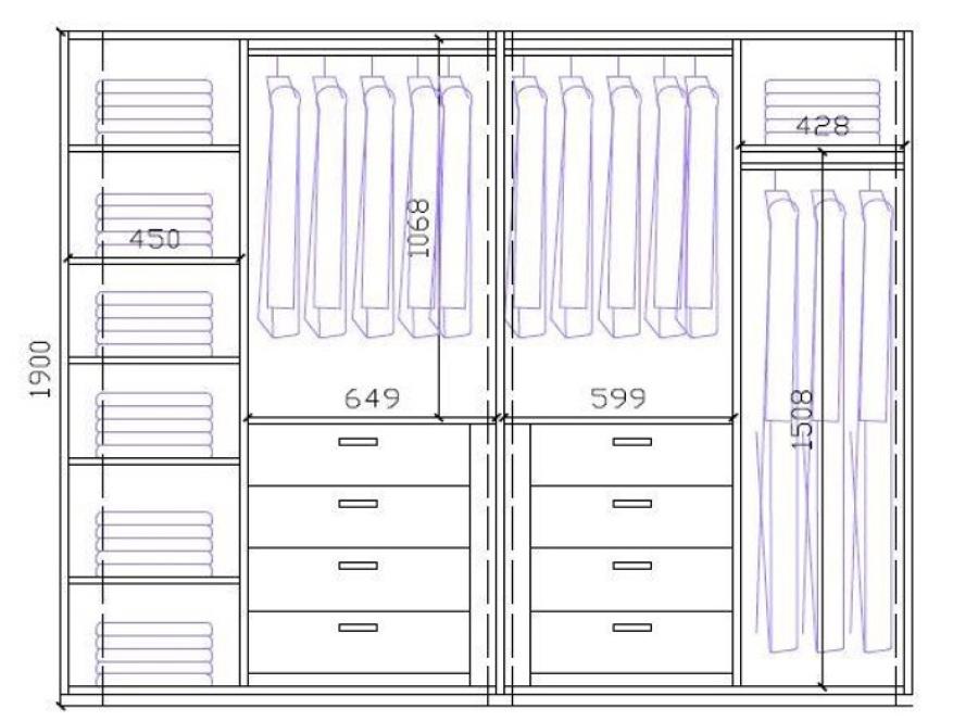 Forrar armario 2 armarios grandes y 1 peque o mijas for Organizacion de armarios empotrados