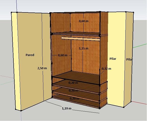 2 armarios empotrados a medida completos forro y puertas for Precios de armarios a medida