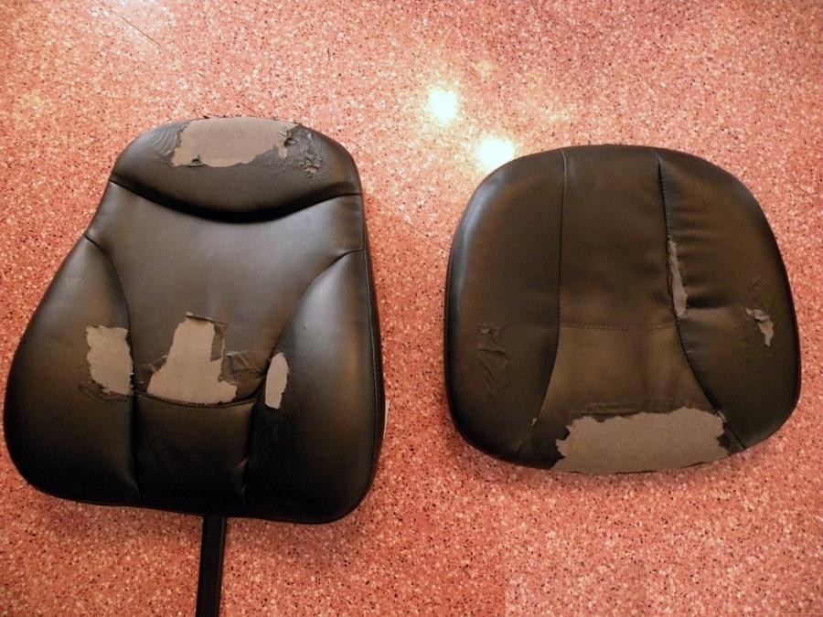 Tapizar respaldo y asiento de silla de despacho alicante - Precio tapizar sillas ...