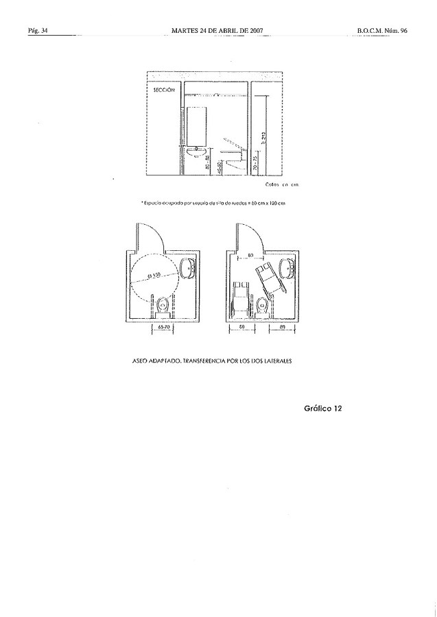 Baño Minusvalidos Medidas:baño1_345302