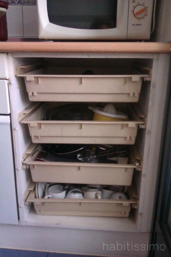 Cajonera para mueble de cocina 2 cajones altos de 60 cm for Cajoneras de cocina