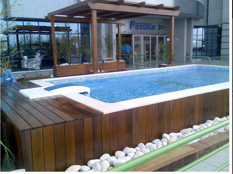 Tarima para piscina desmontable de gres santa pola - Precios piscinas desmontables ...