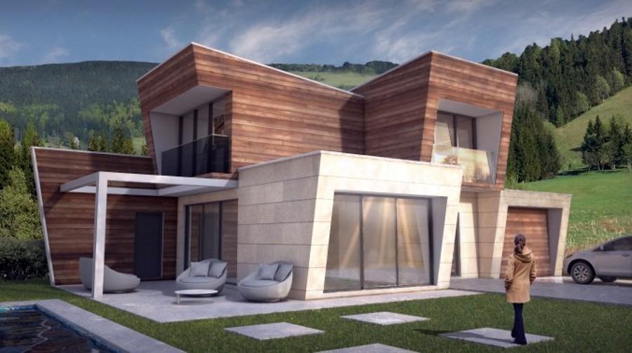 Construir casa de hormig n prefabricado estilo moderno - Casa prefabricadas tenerife ...