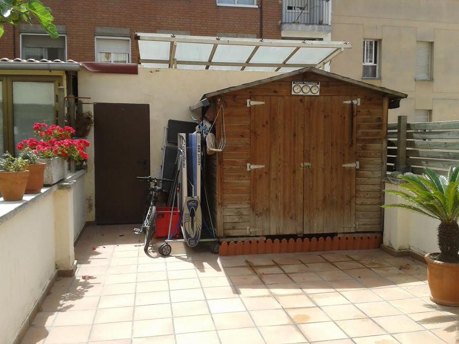 Cerramiento de terraza a m s de 6 mts de la fachada donde for Caseta madera terraza