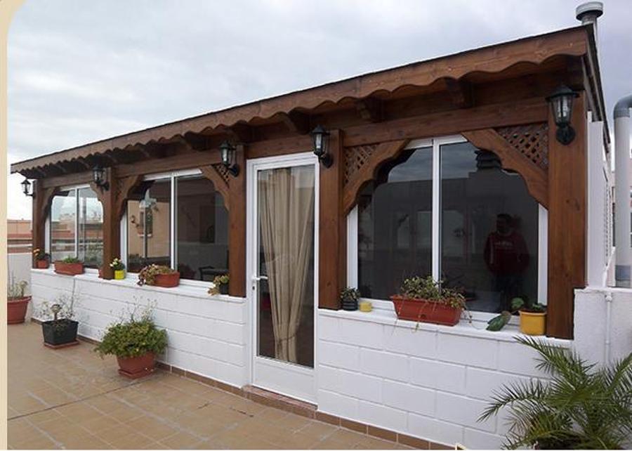 Como hacer un cuarto de madera construcci 243 n r 237 o for Caseta aluminio terraza