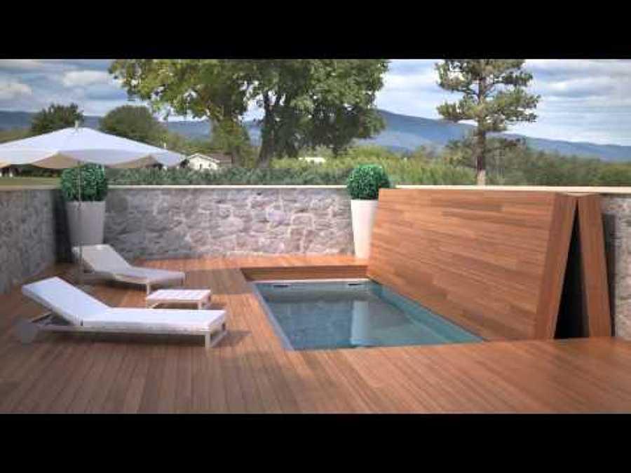 Construccion de piscina con cubierta pisable bulevar del for Gresite piscina precio m2