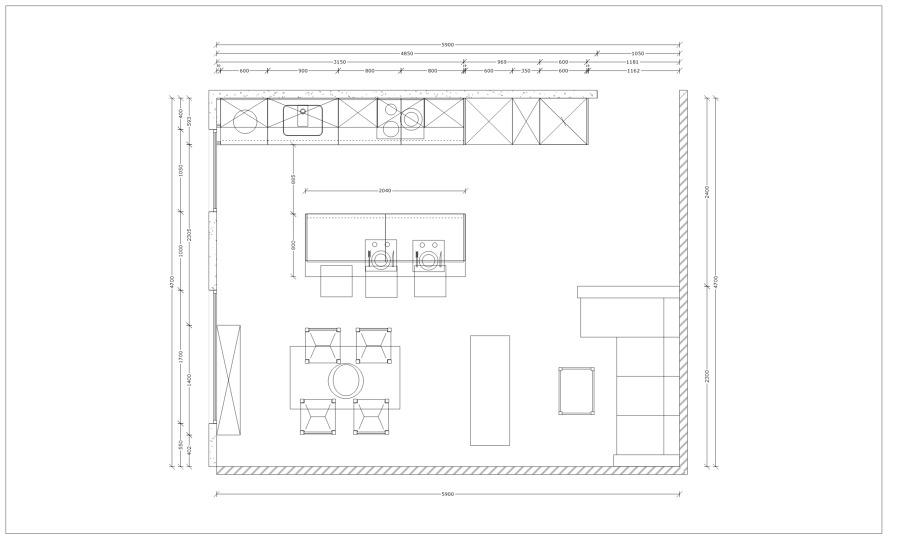 Medidas de una cocina medidas para montar guas with for Medidas isla cocina